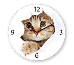 TIME ART Horloge en verre Blanc