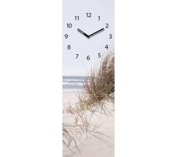 TIME ART Horloge en verre 20x60 cm Bleu