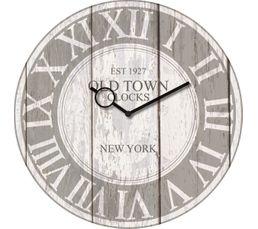 TIME ART Horloge en verre 30x30 cm Blanc
