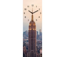 TIME ART Horloge en verre 20x60 cm Multicolor