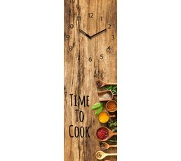 Horloge en verre 20x60 TIME ART Marron