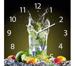 TIME ART Horloge en verre 30x30 cm Multicolor