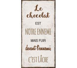 CHOCOLAT Deco sign 40x20 Beige
