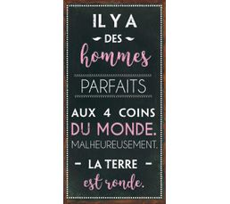 HOMME Deco sign 40x20 Marron