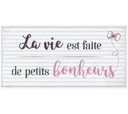 Deco sign 20x40 LA VIE Beige