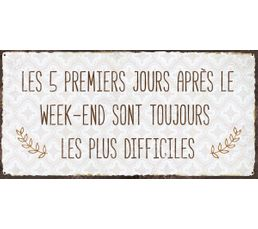 WEEK END Deco sign 20x40 Beige
