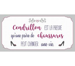 CENDRILLON Deco sign 20x40 Blanc