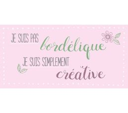 BORDELIQUE Deco sign 20x40 Rose