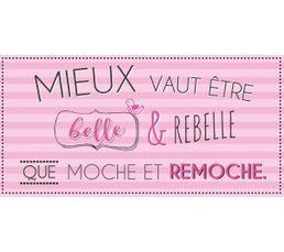 BELLE Deco sign 20x40 Rose