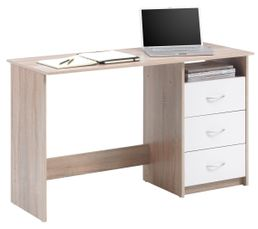 bureau adria ch ne et blanc bureaux but. Black Bedroom Furniture Sets. Home Design Ideas