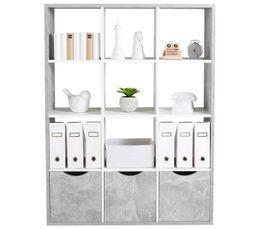 tag re cm quadro 12 cases blanc b ton. Black Bedroom Furniture Sets. Home Design Ideas