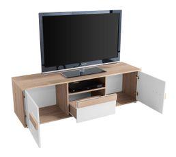 Meuble TV FLORENZ Blanc et chêne