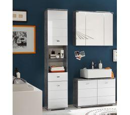 Miroir Sympa Salle De Bain ~ miroir salle de bain 3 portes santorin avec led couleur b ton