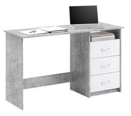 bureau adria b ton et blanc bureaux but. Black Bedroom Furniture Sets. Home Design Ideas