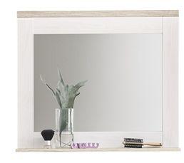 PANAMA Miroir de salle de bain Blanc et chêne
