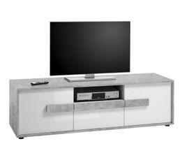 Meuble TV FLORENZ Blanc et béton