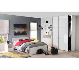 armoire l 150 cm signature verre blanc dressings but. Black Bedroom Furniture Sets. Home Design Ideas