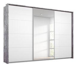 Armoire 3 portes passepartout L.278 cm MIAMI imitation béton...