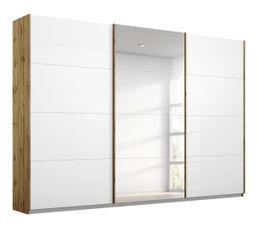 Armoire 3 portes L.271 cm MIAMI imitation chêne moyen et...