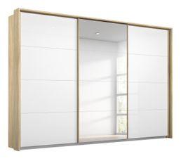 Armoire 3 portes passepartout L.278 cm MIAMI imitation chêne...