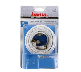 Câble antenne HAMA Coax 75dB blanc 10m
