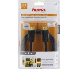 Câble vidéo HDMI High Speed HAMA HDMI HiS 1,50m 3*
