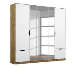 Armoire 5 portes 2 tiroirs L.181 cm BALANCE imitation chêne...