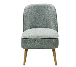 Fauteuil scandinave Tissu chiné PINO