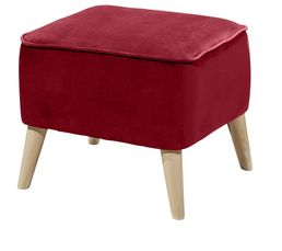 CLUBY Repose pieds vintage Tissu velours rouge