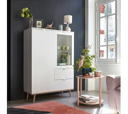 buffet haut scandinave leknes blanc buffets but. Black Bedroom Furniture Sets. Home Design Ideas