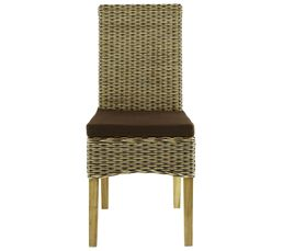 Chaise max 2 rotin bicolore chaises but for Salle a manger en rotin pour veranda