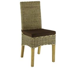 Chaise max 2 rotin bicolore pas cher avis et prix en promo for Prix chaise en rotin