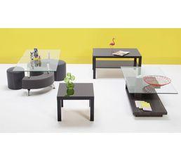 Table Basse Et 2 Poufs Alpha Gris Tables Basses But