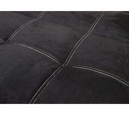 Banquette-lit COSY Tissu Microfibre noir