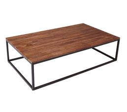 Table basse industrielle FABRIKK Bois massif