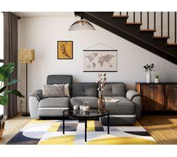 Canapé d'angle droit ZEN Relax Gris