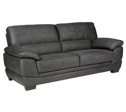 canap 3 places mael tissu anthracite pas cher avis et prix en promo. Black Bedroom Furniture Sets. Home Design Ideas