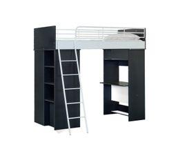 Mezzanine WORKSTATION noir et blanc