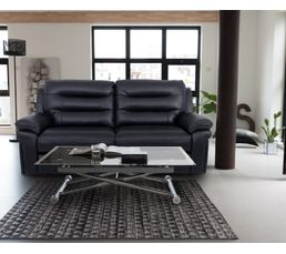 canap 3 places 2 relax manuel walter polyur thane tissu noir canap s but. Black Bedroom Furniture Sets. Home Design Ideas