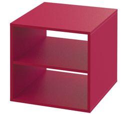 Structure : en panneaux de particules, ép. 12 mm. Garantie : 2 ans , Pièces Finition : papier décor fuchsia. Dimensions en cm : L. 35,8 - H. 35,8 - P. 38,5 cm.Structure : en panneaux de particules, ép. 12 mm. Garantie : 2 ans , Pièces Finition : papier dé
