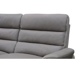 Angle relax élect.mérid.gauche WELTON Cuir Taupe/micro.gris clair