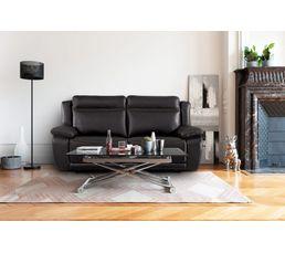 Canapé 3 places relax élect. SUNDAY Cuir/PU Chocolat