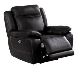 fauteuil relax lectrique sunday cuir et pu chocolat. Black Bedroom Furniture Sets. Home Design Ideas