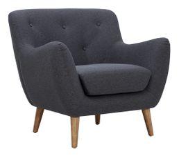fauteuil scandinave milo tissu gris anthracite pas cher avis et prix en promo. Black Bedroom Furniture Sets. Home Design Ideas