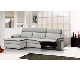 canap m ridienne gauche relax willy pu microfibre gris clair canap s but. Black Bedroom Furniture Sets. Home Design Ideas
