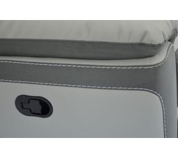 Angle méridienne droit 1 relax WILLY PU/Microfibre Gris clair