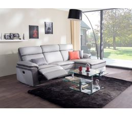 canap m ridienne droite relax willy pu microfibre gris clair canap s but. Black Bedroom Furniture Sets. Home Design Ideas