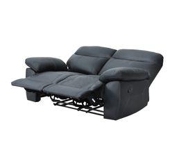 Canapé 2 places relax manuel AREZZO Cuir/PU Noir