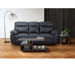 Canapé 3 places relax manuel AREZZO Cuir/PU Noir