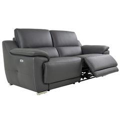 canap 3 places 2 rlx lectri vogg ii cuir cro te cuir gris fonc. Black Bedroom Furniture Sets. Home Design Ideas
